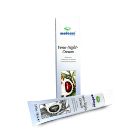 Herbal ointment in varicose veins with wild horse chestnut, echinacea, chamomile and chunk